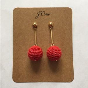 J. Crew Crochet Bead Drop Earrings